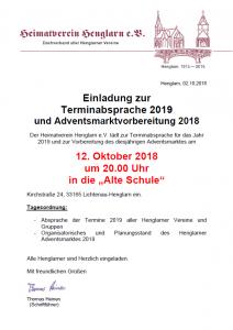 2018-10-01_Aushang_Terminabsprache
